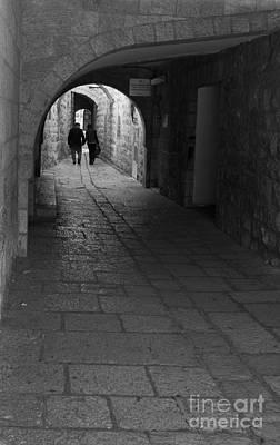Jerusalem's Street Scene Original by Rita Kapitulski
