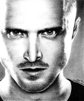 Paul Drawing - Jesse Pinkman - Breaking Bad by Rick Fortson
