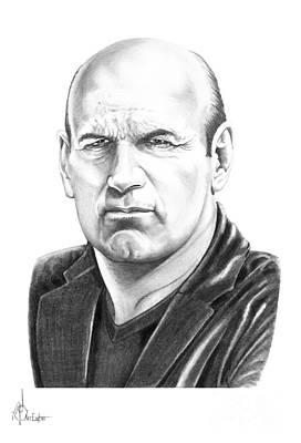 Wrestling Drawing - Jesse Ventura by Murphy Elliott