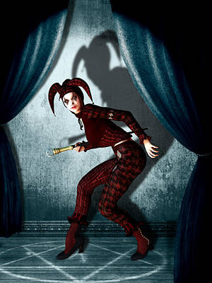 Jester Print by Britta Glodde