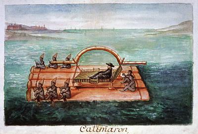 Raft Photograph - Jesuit Ambassador On A Raft by Cci Archives