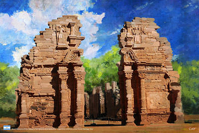 Dome Painting - Jesuit Missions Of The Guarais San Ignacio Mini Santa Ana by Catf