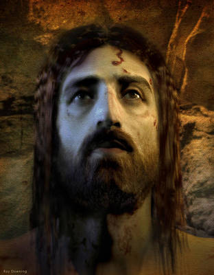 Crucifixion Digital Art - Jesus Alive Again by Ray Downing