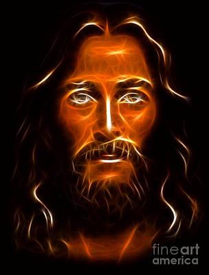 Jesus The King Mixed Media - Brilliant Jesus Christ Portrait by Pamela Johnson