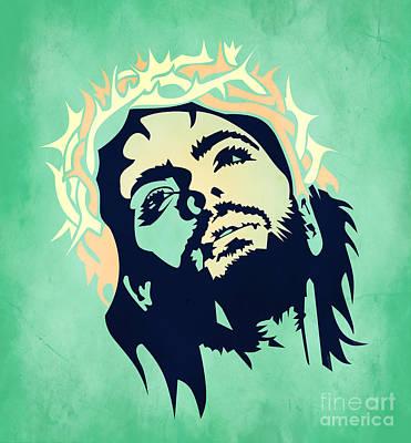 Jesus Christ 2 Print by Mark Ashkenazi