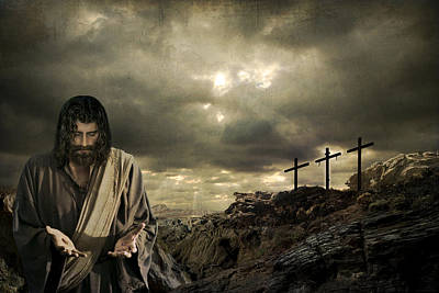 Real Face Digital Art - Jesus Christ- A Sacrifice Of Atonement by Acropolis  De Versailles