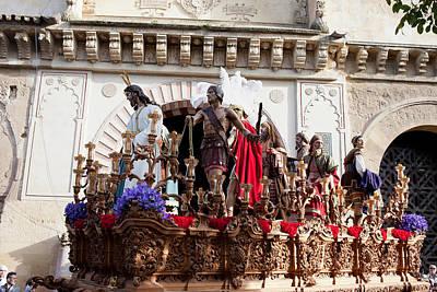 Jesus Christ And Roman Soldiers On Procession Print by Artur Bogacki