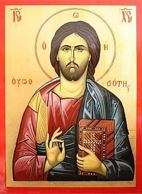 Greek Icon Painting - Jesus Christ Icon by Marian Moncea