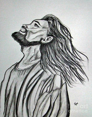 Christian Artwork Mixed Media - Jesus Christ In Graphite by Janice Rae Pariza