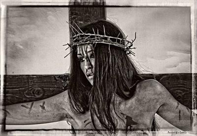 Crucified Photograph - Jesus Christ Portrait by Ramon Martinez