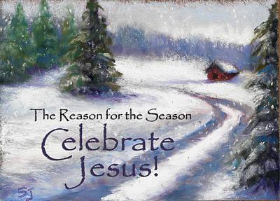 Jesus Christmas Print by Susan Jenkins