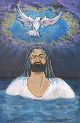 Jesus Is Baptized  Print by Ann Lukesh