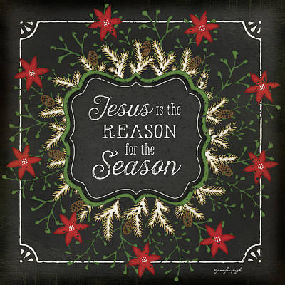 Christmas Painting - Jesus Is The Reason For The Season by Jennifer Pugh