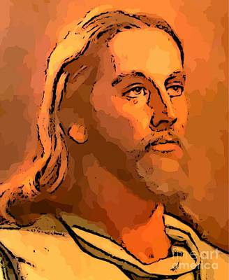 Devotional Painting - Jesus by John Malone
