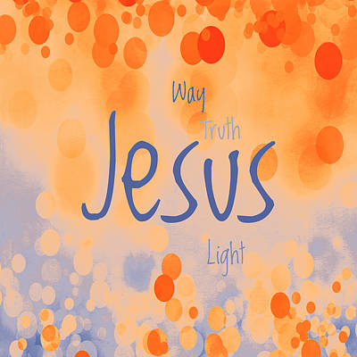Root Of Mixed Media - Jesus Light 2 by Angelina Vick