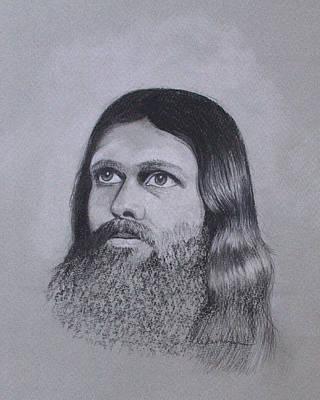 Jesus Looking To Heaven Print by Kathy Weidner