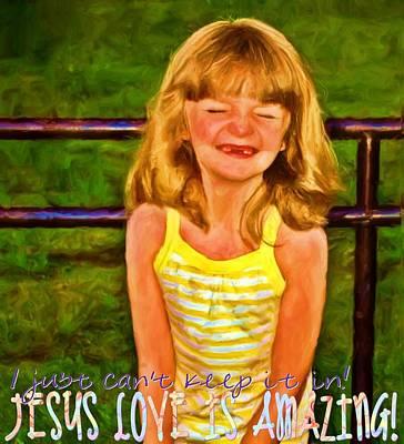 Jesus Love Is Amazing Print by Michelle Greene Wheeler