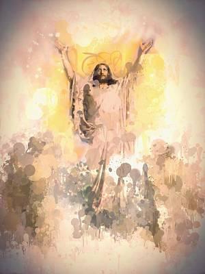 Jesus Christ Digital Art - Jesus Loves You 2 by Steve K