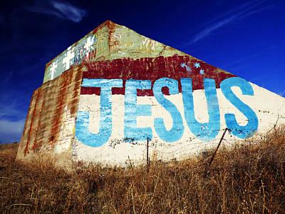 Jesus Mural Original by Pamela Patch