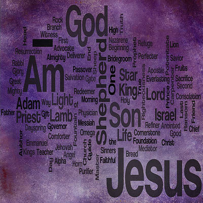 Root Of Mixed Media - Jesus Name 2 by Angelina Vick