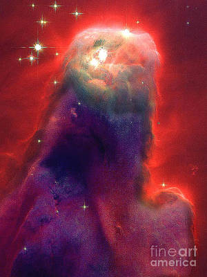Telescopic Image Photograph - Jesus Nebula From Nasa by Merton Allen