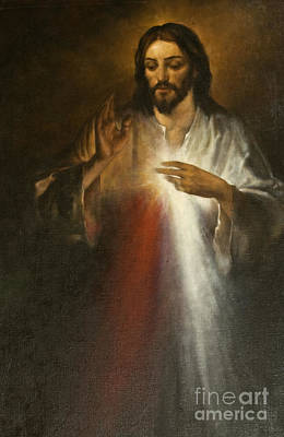 Jesus Of Divine Mercy Print by Dan Radi