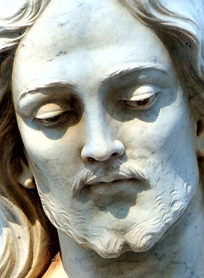 Statue Portrait Digital Art - Jesus Statue by David G Paul