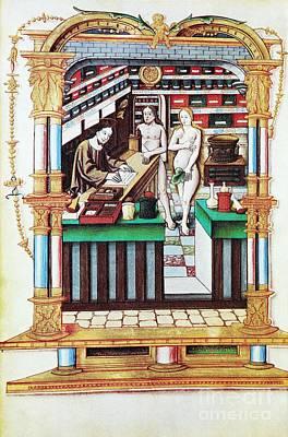 Jesus The Apothecary, 16th Century Print by Spl