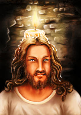 Jesus- The Candle Light Print by Arun Sivaprasad