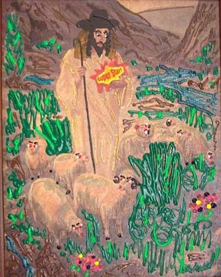 Jesus The Celebrity Print by Lisa Piper Menkin Stegeman