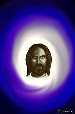Christ Painting - Jesus -the Savior by Carmen Cordova