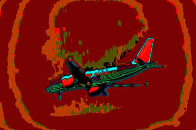 Financial Mixed Media - Jet Aeroplane In Hdr by Doc Braham