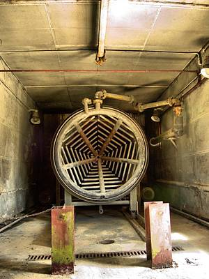 Abandoned Air Plane Photograph - Jet Engine Test Bay 3 by Lucy Antony
