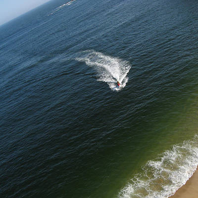 Landscape Photograph - Jet Ski Aerial View by Rob Huntley