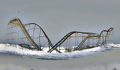 Rollercoaster Photograph - Jet Star Warp by  Tina McGinley