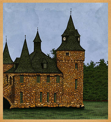 Castle Mixed Media - Jethro's Castle by Meg Shearer