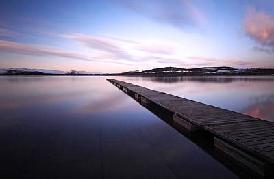 Jetty On Loch Lomond Print by Grant Glendinning