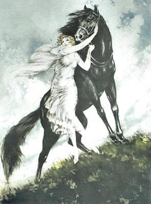 Louis Icart Painting - Jeunesse  by Louis Icart