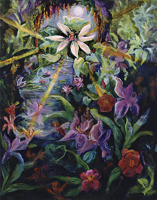 Integrated Painting - Jewel In The Lotus by Shari Silvey