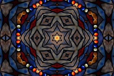 Jeweled Flower Print by Chad Wasden
