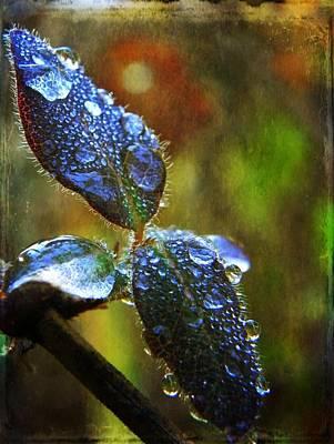 Jeweled Leaves Original by Leah Moore