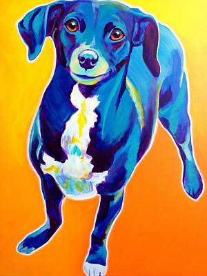 Dog Painting - Chiweenie - Jewels by Alicia VanNoy Call