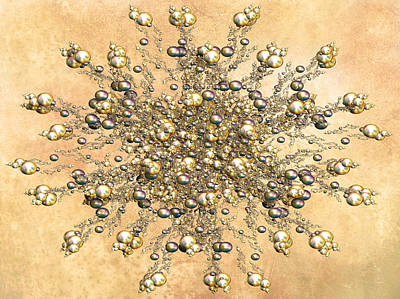 Jewels In The Sand Print by Georgiana Romanovna