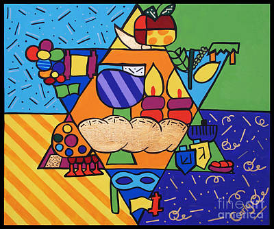 Purim Painting - Jewish Year by Carly Khabinsky