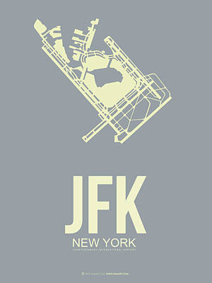 New York Mixed Media - Jfk Airport Poster 1 by Naxart Studio