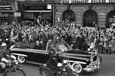 Jfk Cavalcade Dublin 1963 Print by Irish Photo Archive