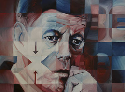 Dallas Drawing - JFK by Steve Hunter