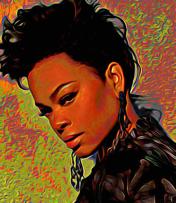 Jill Scott Original by  Fli Art