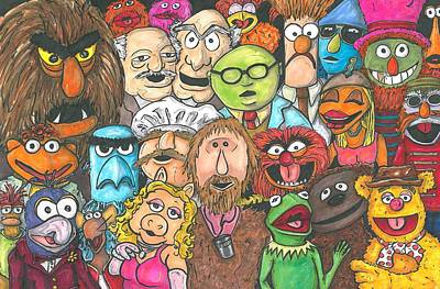 Jim And Friends Original by Andy Driscoll