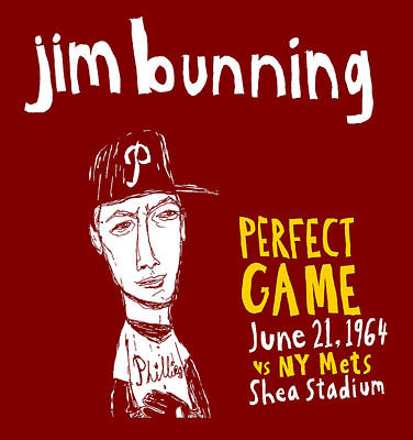 Jim Bunning Philadelphia Phillies Original by Jay Perkins
